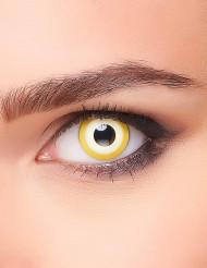 Fantasievolle Kontaktlinsen für Erwachsene gelb