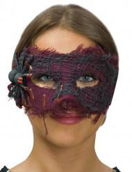 Halloween Maske mit Spinne für Damen