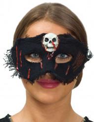 Stoff Maske mit Schädel für Damen