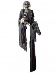 Skelett-Geist-Hängedekoration Halloween grau-weiss