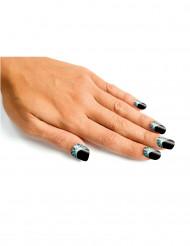 Künstliche Fingernägel Halloween schwarz