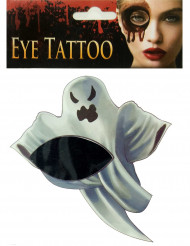 Gespenstisches Tattoo Halloween Make-up Geist grau