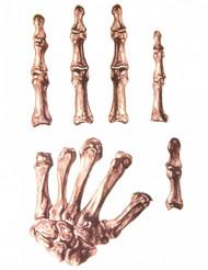 Skelett-Aufkleber Halloween-Zubehör beige