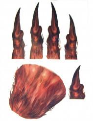 Werwolf-Tattoo Handoberfläche Halloween-Zubehör braun