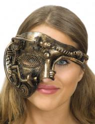 Edle Steampunk Halbmaske für Damen