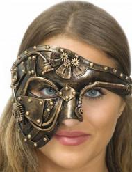 Steampunk Phantom-Maske für Damen Kostümzubehör gold