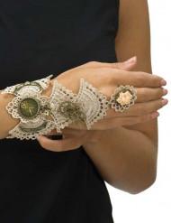 Steampunk Armband mit Spitze für Damen