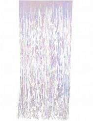 Schimmernder Fransen-Vorhang bunt 91x244cm