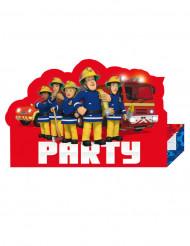 8 Einladungskarten Sam der Feuerwehrmann™