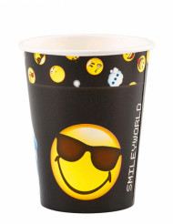 8 Trinkbecher Emoticons™ 250ml