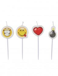 Emoticons Kerzen™ 4 Stück