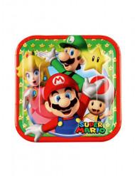8 Kleine Pappteller Super Mario 18cm