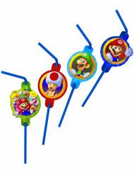 Super Mario™ Kunststoff-Strohhalme 8 Stück