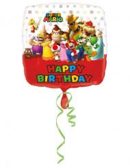 Aluminiumballon alles Gute zum Geburtstag Super Mario ™ 43 cm