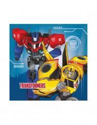 Transformers™-Servietten Papierservietten 33x33cm blau-rot-gelb