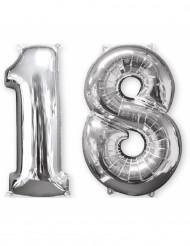 Aluminiumballon 2er Set Zahl 18