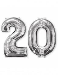 Aluminumballon 2er Set Zahl 20