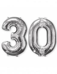 Aluminumballon 2er Set Zahl 30