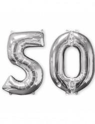 Aluminumballon 2er Set Zahl 50