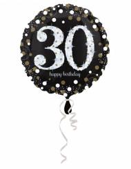 Aluminiumballon alles Gute zum Geburtstag 30 - 45 cm
