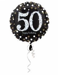 Aluminium Ballon alles Gute zum Geburtstag 50 - 45 cm