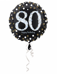 Folienballon 80 Happy Birthday