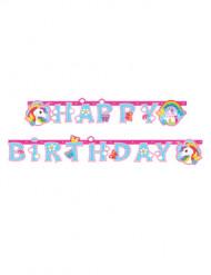 Einhorn Girlande Happy Birthday 1,79m