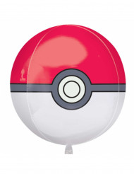 Aluminium Ballon Pokéball Pokemon ™ 38 x 40 cm