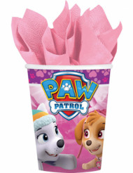 Papierbecher Paw Patrol™ 266 ml rosa