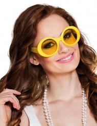 Disco Brille kostümaccessoire gelb