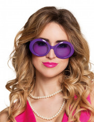 Disco Brille kostümaccessoire lila