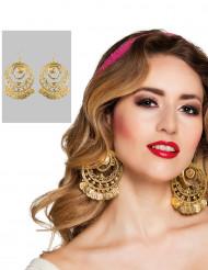 goldene Ohrringe orientalische Tänzerin