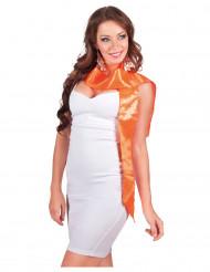 Oranger Schal mit Pailletten für Erwachsene