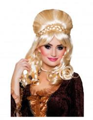 Blonde Barock-Perücke für Damen