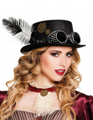 Steampunk Hut mit Federn für Erwachsene