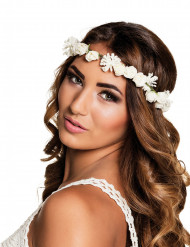 Weiße Blumenkrone für Erwachsene