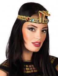 Pharaonin Kopfband mit Schmucksteinen gold