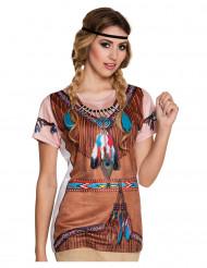 T-Shirt mit Indianeraufdruck für Damen