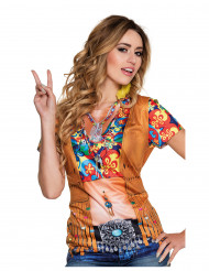 T-Shirt Hippie-Weste für Damen
