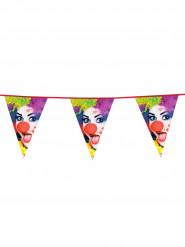 Wimpel Girlande Clown 6m bunt