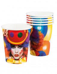 Partybecher clown 25 cl bunt