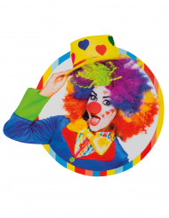 Dekoration Clown 33 x 35cm bunt