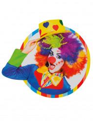 Dekoration Clown 33 x 35cm bunt