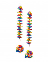 Clown Girlande 2 Stück bunt 60 cm