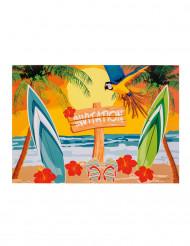 Einladungen Hawaii Strand-Party 6 Stück bunt 10 x 15cm
