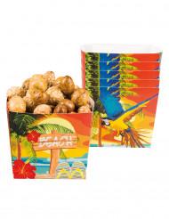 Papier-Schalen Hawaii 40 cl bunt 6 Stück