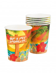 6 Pappbecher Beachparty 25cl