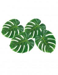 Palmenblätter Dekoration33 x 27cm grün 4 Stück