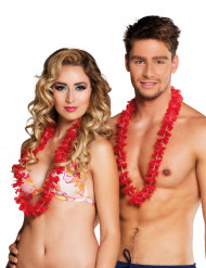 25 rote Hawaii Ketten