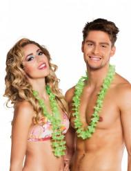 25 grüne Hawaiiketten